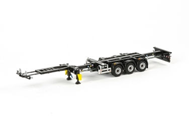 3-Axle Container Chassis - White Line (1:50)