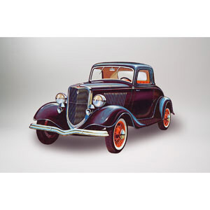 34 Ford 3 Window Coupe 1:32