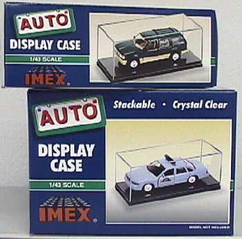 Car Case Clear Base 1:43 2pk