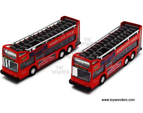 "Chicago Sightseeing Double Decker Bus Open Top (6"", Red)"