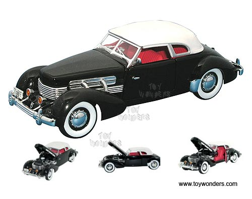 Cord 812 Supercharged (1937, 1:32 scale diecast model car, Black)