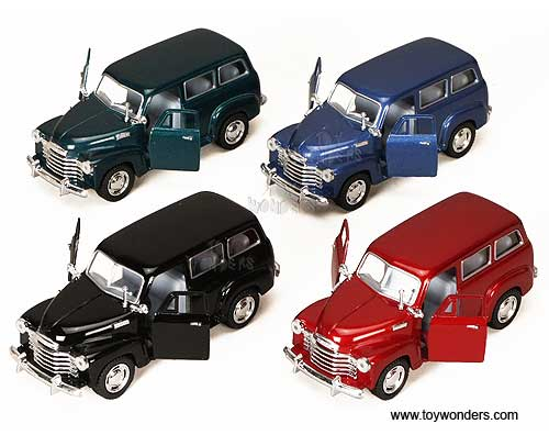Chevy Suburban (1950, 1:36 scale diecast model car, Assorted Colors.)