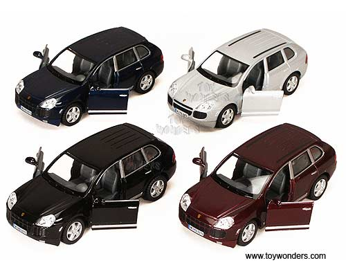 Porsche Cayenne SUV (1:38 scale diecast model car, Assorted Colors.)
