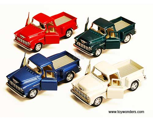 Chevy Stepside Pickup (1955, 1:32 scale diecast model car, Assorted Colors.)