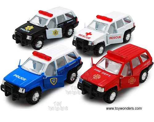 "Super Emergency Challenger (4.5"" diecast model car, Assorted Colors.)"