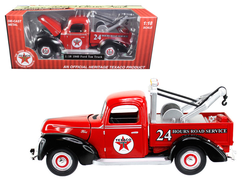 "1940 Ford Tow Truck ""Texaco"" Red 1/18 Diecast Model Car by Beyond Infinity"