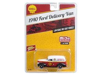 "1940 Ford Delivery Van ""Shell"" 1/64 Diecast Model Car by Johnny Lightning"