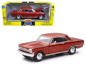 "1964 Chevrolet Nova SS Burgundy ""Muscle Car Collection"" 1/25 Diecast Model Car by New Ray"