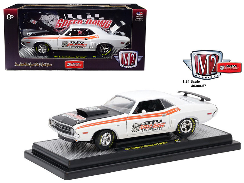 1971 Dodge Challenger R/T Hemi  Speed Dawg Shift Know 1/24 Diecast Model Car by M2 Machines