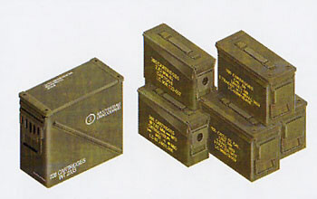 Cal .30/ Cal .50/ 40mm Ammo Boxes 1:35, AFV Plastic Model Kits Item Number AFV35035