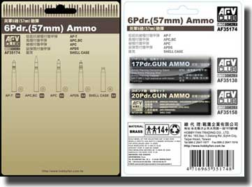 6 Pdr.(57mm) Ammo 1:35