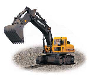 R/C Excavator (1:12 Scale) 26.955 MHz, Hobby Engine Radio Control Item Number HOB803A