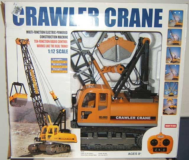 R/C Crawler Crane 27.095mhz (1:12 Scale), Hobby Engine Radio Control Item Number HOB805B