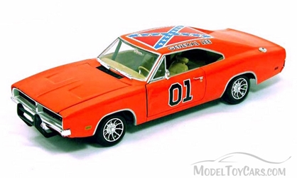 1969 The Dukes of Hazzard General Lee 1969 Dodge Charger #0, 1/18, Johnny Lightning Item Number 32485OR