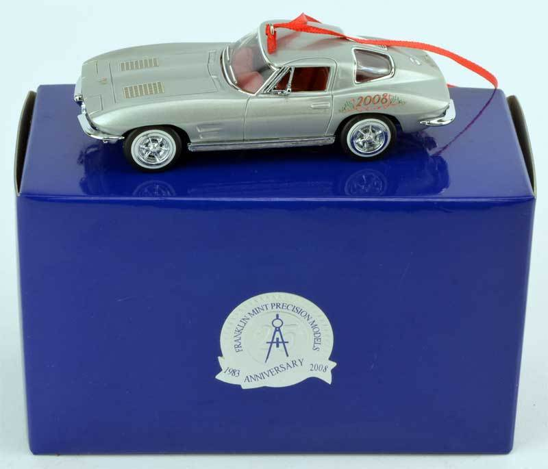 Franklin Mint 1963 Corvette Sting Ray Christmas Ornament