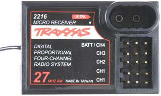 Receiver Micro 4 Channel, Traxxas Radio Control Item Number TRX2216