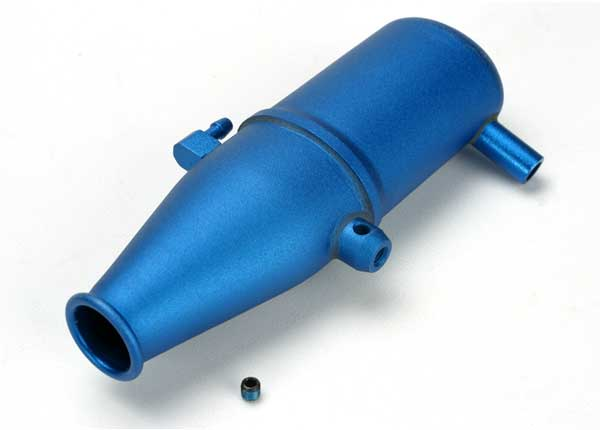 Aluminum Tuned Pipe Blue Anodized Revo
