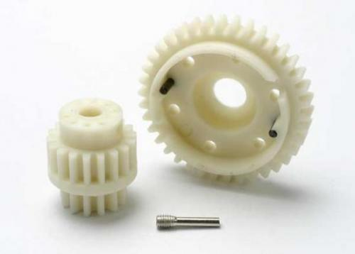 Gear Set - 2-Speed Wide Ratio (2Nd Speed Gear 38T - 13T-18T Input Gears - Hardware), Traxxas Radio Control Item Number TRX5384