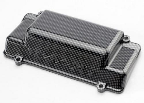 Battery Box Cover - Bumper (rear) - Exo-Carbon finish (Jato), Traxxas Radio Control Item Number TRX5515G