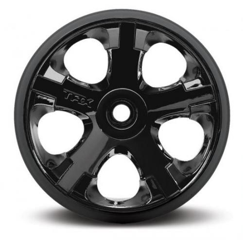 All Star Black Chrome Wheels - 2.8 Inch Diameter - Bearing Fit, Traxxas Radio Control Item Number TRX5577A