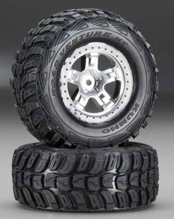 6870 Tire/5872X Wheel Mounted Slash 2WD Rear (2), Traxxas Radio Control Item Number TRX5880