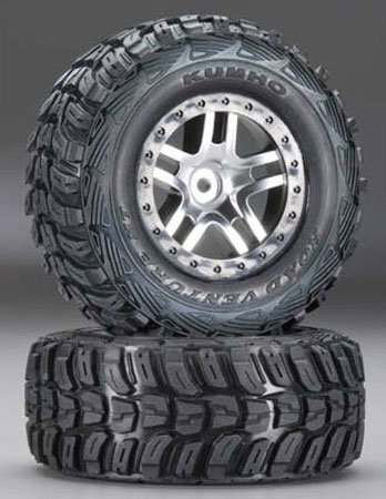 6870 Tires/6872 Wheel Mounted Slash 4x4 (2WD Rear), Traxxas Radio Control Item Number TRX6874