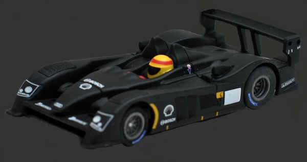 AFX 70303, Mega-G Audi R10 Black Test Car, HO Scale Slot Car
