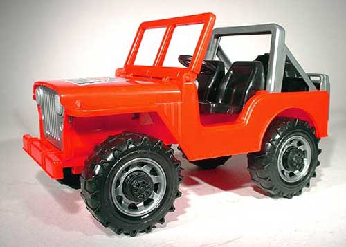 Cross Country Off-Road Vehicle in Red (Jeep) (1:16)