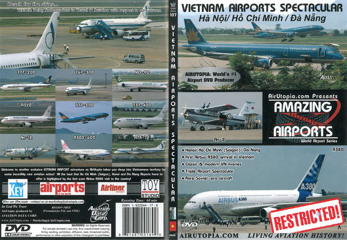 Amazing Airports Vietnam Airports Spectacular 60 Minutes, Air Utopia Aviation DVDs Item Number AUT107