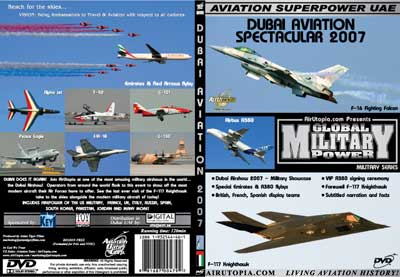 Dubai Airshow 2007 A380 (DVD), Air Utopia Aviation DVDs Item Number AUT55