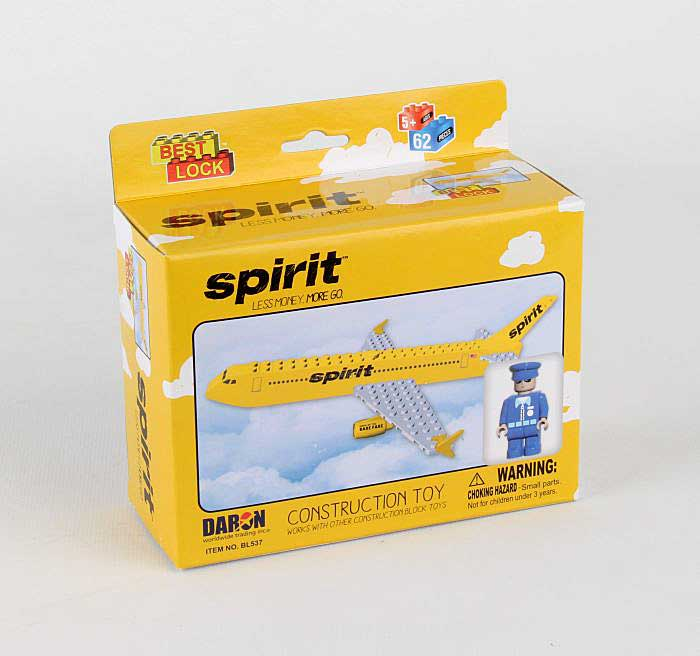 Spirit Airlines 55 Piece Construction Toy, Best Lock, Item Number BL537