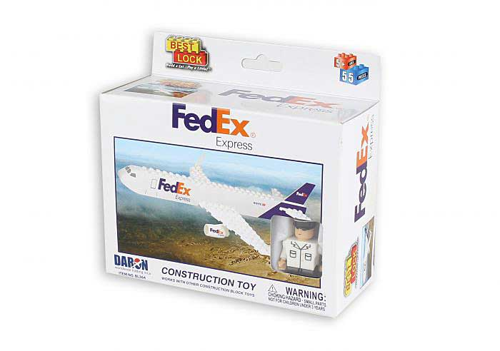 Fedex 55 Piece Construction Toy, Best Lock, Item Number BL364