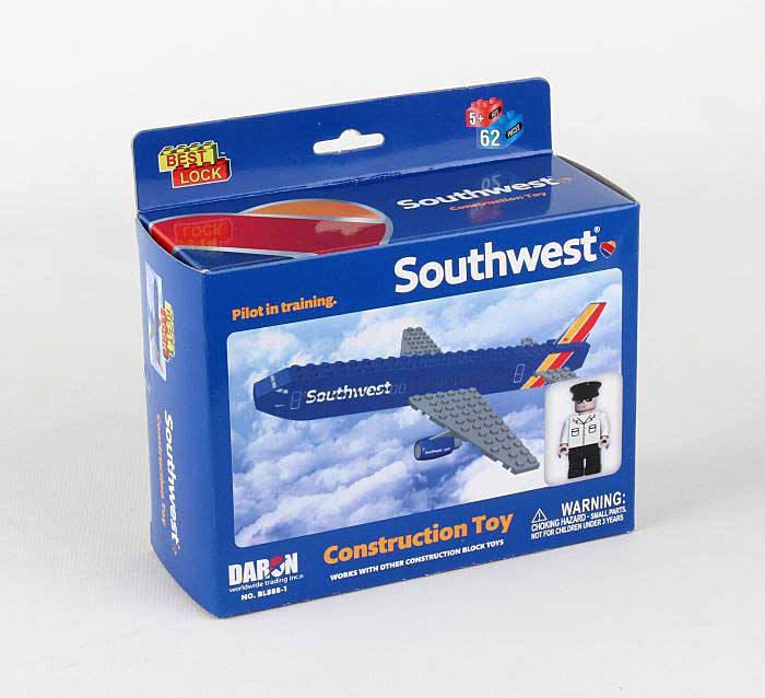 "Southwest Airlines ""Heart Livery"" 55 Piece Construction Toy, Best Lock, Item Number BL888-1"