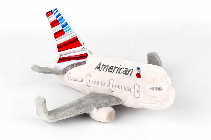 American Airlines Plush Airplane With Sound by Daron Toys Item Number MT004-1