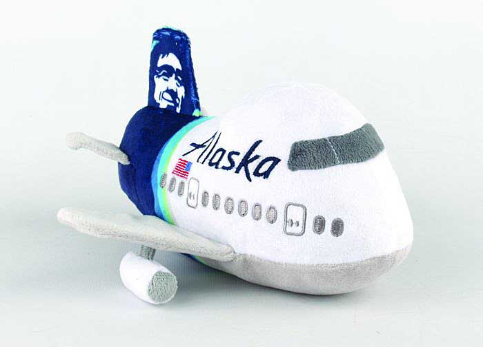 "Alaska Airlines Plush Toy ""New Colors"" with Sound, Daron Toys, Item Number MT020-1"