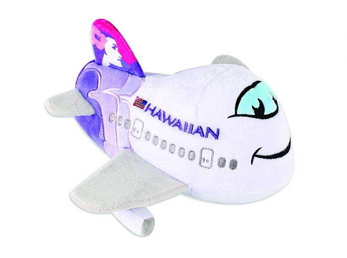"Hawaiian Airlines ""New Colors"" Plush Plane with Sound, Pilotwear, Item Number MT026"