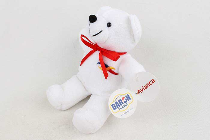 Avianca Plush Teddy Bear by Pllotwear Item Number MTRB7016