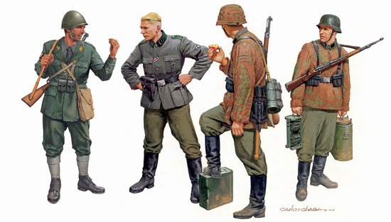 """Fragile Alliance"" Axis Forces, Balkan 1943 (4 Figures Set) (1:35), Dragon Model Kits Item Number DRA6563"