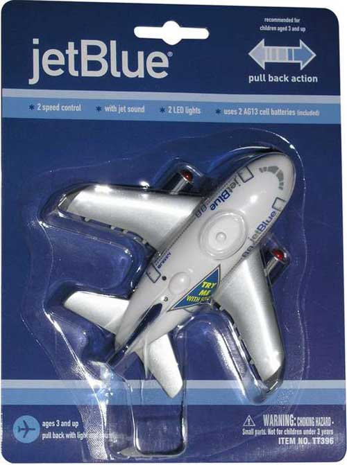Jetblue Airways Pullback W/LIGHTS & Sound, Toytech Item Number TT396