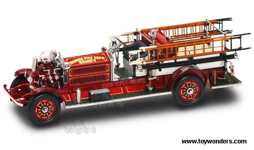Ahrens-Fox N-S-4 Fire Engine (1925, 1:24, Red/ White) 20108, Yatming Item Number 20108R