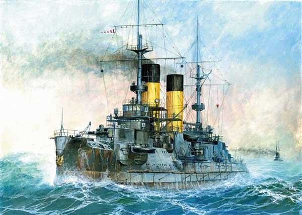 """Kniaz Suvorov"" Russian Battleship 1:350, Zvezda Model Kits Item Number ZVE9026"