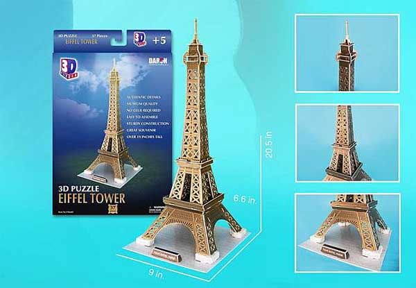 Eiffel Tower Small 37 Piece 3D Puzzle