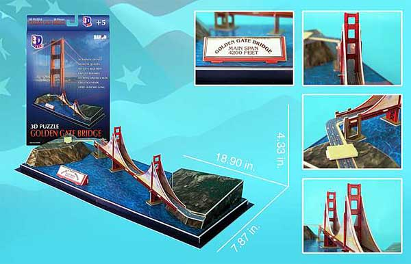 Golden Gate Bridge 3D Puzzle, 3D Puzzles Item Number CF078H