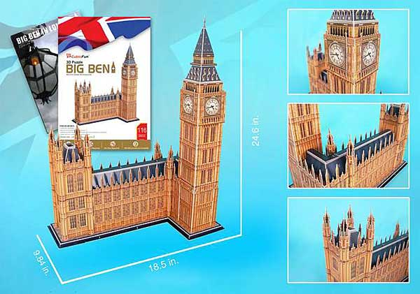 Big Ben 116 Piece 3D Puzzle With Book