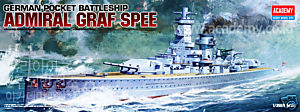 Admiral Graf Spee (1:350), Academy Hobby Plastic Model Kits Item Number ACD14103