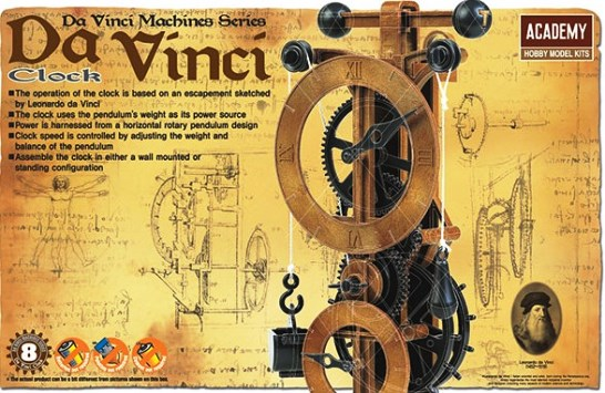 Da Vinci Clock, Academy Hobby Plastic Model Kits Item Number ACD18150