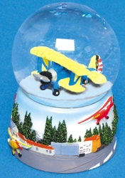 Airplane Water Globe, Born Aviation Aviation Gifts Item Number AN-AWG