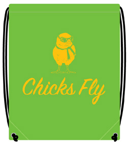 Green Chicks Fly Backpack