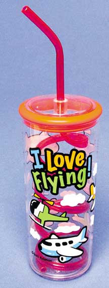 Glass w/Twisty Straw, Born Aviation Aviation Gifts Item Number TW-KT