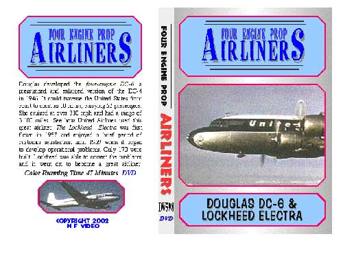 Four Engine Prop Airliners, Non-Fiction Video Aviation DVDs Item Number DV598